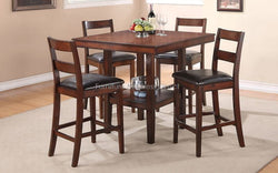 FurnitureMattressDirect- Solid Wood Pub Set with 4 Pub chairs