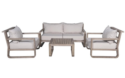 FurnitureMattressDirect- Solid Wood Sofa Set with Centre Table (Natural & Beige)01