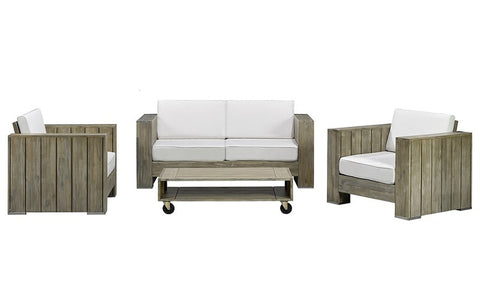 FurnitureMattressDirect- Solid Wood Sofa Set with Centre Table (Natural Grey & Beige)01