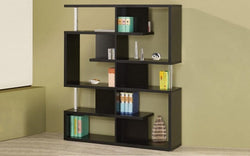 FurnitureMattressDirect- Wood Finish Book Shelf (Black)