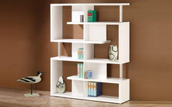 FurnitureMattressDirect- Wood Finish Book Shelf (White)