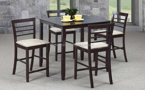 FurnitureMattressDirect- Wooden Pub Set with 4 chairs