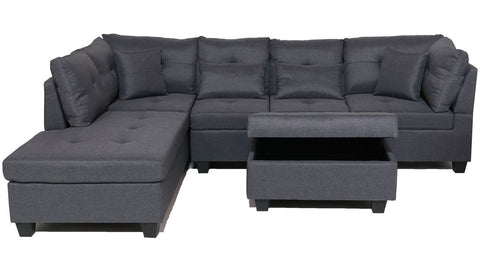 FurnitureMattressDirect⁽ᴰᵉᵃˡˢ⁾- Sectional Set with Ottoman 2