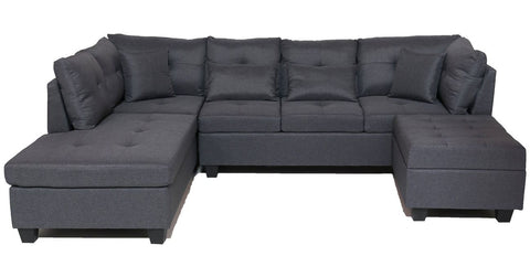 FurnitureMattressDirect⁽ᴰᵉᵃˡˢ⁾- Sectional Set with Ottoman 3