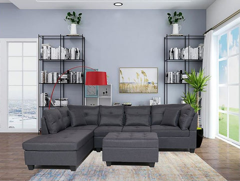 FurnitureMattressDirect⁽ᴰᵉᵃˡˢ⁾- Sectional Set with Ottoman 7