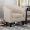 FURNITUREMATTRESSDIRECT-TUB CHAIR - WHITE/GREY A-AC112