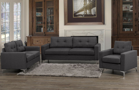 Image of 3-Piece Sofa Set- Grey