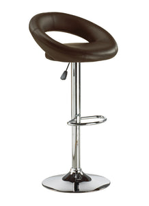 FURNITUREMATTRESSDIRECT-BAR STOOL WITH CURVED BACK & 360° SWIVEL LEATHER SEAT D-BS112