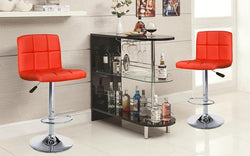 FURNITUREMATTRESSDIRECT-Bar Stand Only - White | Black E-PS111