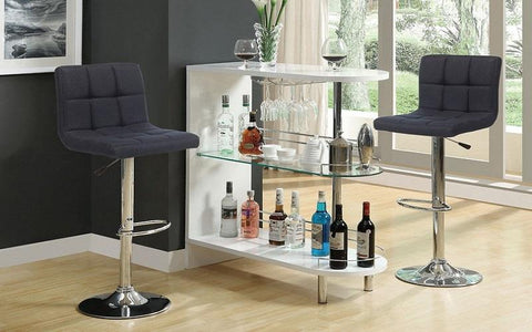 Image of FURNITUREMATTRESSDIRECT-Bar Stand Only - White | Black E-PS111