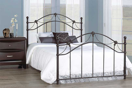 Headboard-Bronze With Gold Brushed Accents