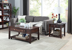 FURNITUREMATTRESSDIRECT-FurnitureMattressDirect-Espresso Coffee Table Set- A-CT102
