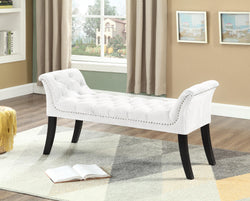 Bench with Cream Velvet Finish