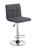 FURNITUREMATTRESSDIRECT-BAR STOOL ADJUSTABLE WITH SWIVEL IN GREY D-BS115