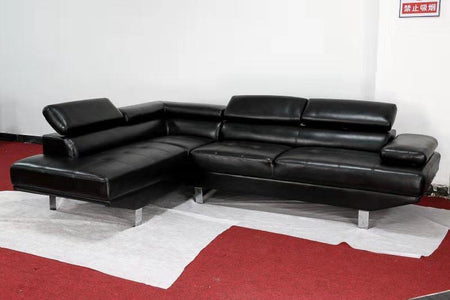 Sienna Sectional Sofa- Black