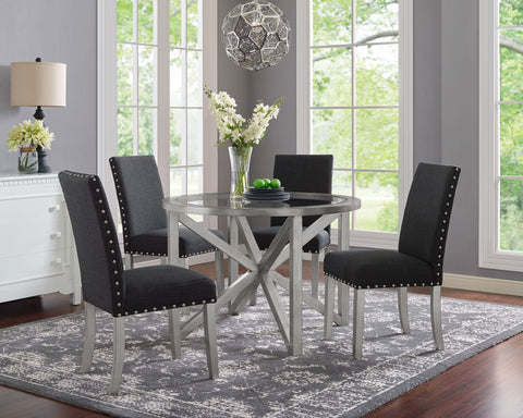 Image of ISABELLA 5 PC DINING ROOM SET IN BLACK