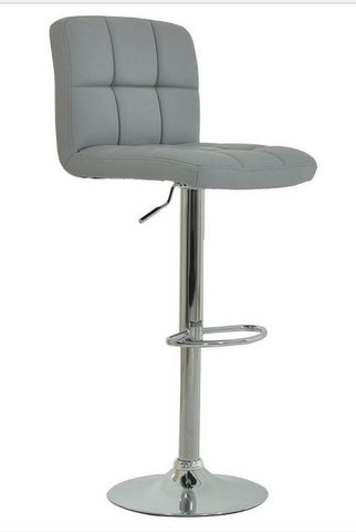FURNITUREMATTRESSDIRECT-BAR STOOL WITH SWIVEL IN GREY D-BS114