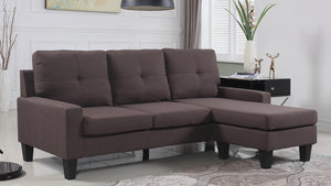 FURNITUREMATTRESSDIRECT-SECTIONAL SET - FABRIC A-SL107
