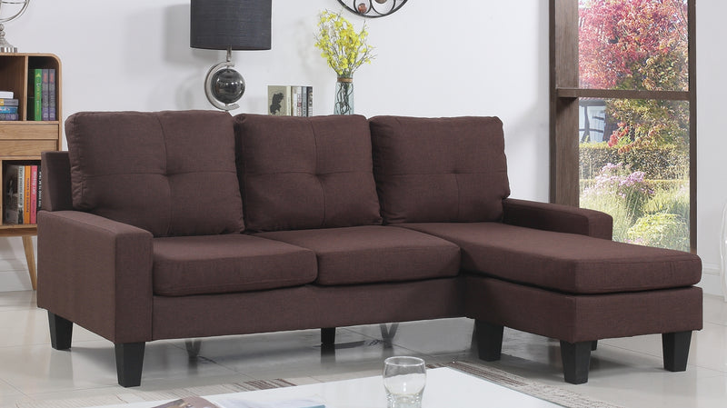 FURNITUREMATTRESSDIRECT-TUFTED SECTIONAL SET FABRIC A-SL108