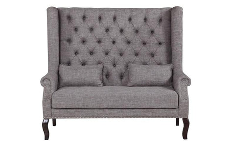 Fabric Love Seat - Grey