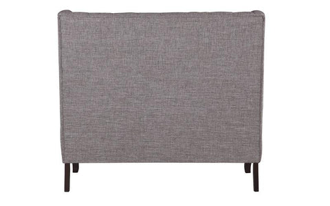 Image of Fabric Love Seat - Grey