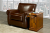 FURNITUREMATTRESSDIRECT-Chairside End Table With Power in OAK ET102