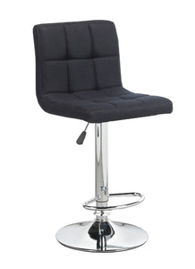 FURNITUREMATTRESSDIRECT-BAR STOOL ADJUSTABLE WITH SWIVEL IN BLACK D-BS117