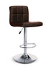 FURNITUREMATTRESSDIRECT-BAR STOOL ADJUSTABLE WITH SWIVEL IN BROWN D-BS119