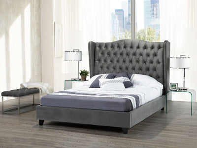 Perry Queen Bed in Grey