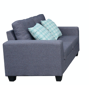 3-Piece Grey Sofa Set