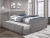 Grey Wood Captain Bed
