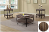 3Pc Coffee Table Set With Round Wooden Top