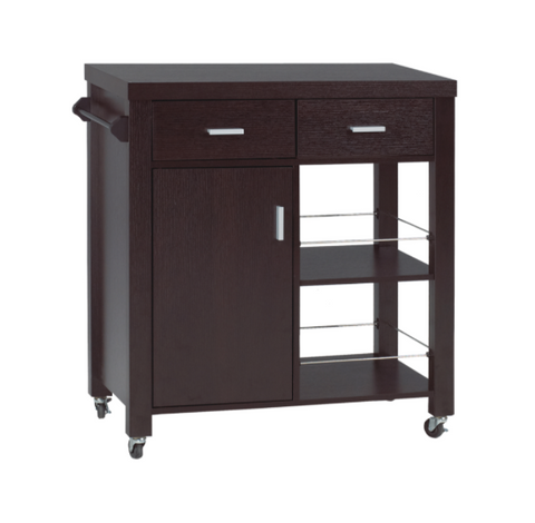 KITCHEN CART - DARK CHERRY