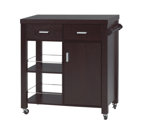 Image of KITCHEN CART - DARK CHERRY
