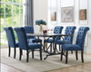 7-Piece Dining Table Set in Blue