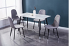 5pc Dinette Set-Grey & White