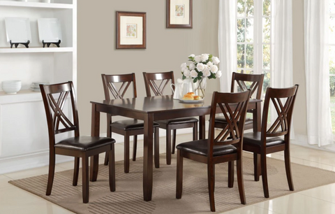 Solid Wood 7 Pieces Dinette Set