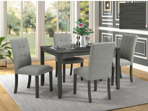 Image of 5 Pieces Dinette Set- Grey