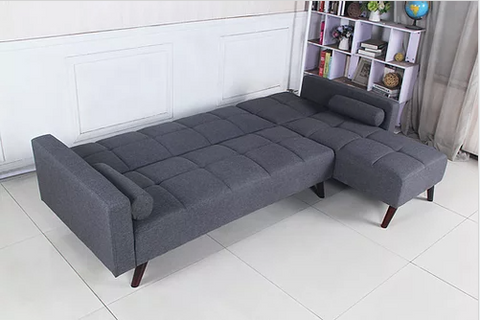 Image of Reversible Sofabed Sectional in Grey