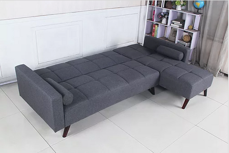 Reversible Sofabed Sectional in Grey