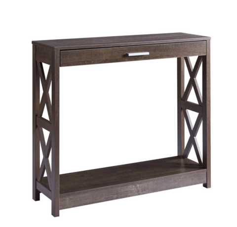 Console Table-Walnut Oak