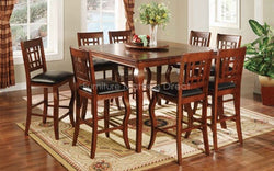 Solid Wood Pub Set with 6 Pub chairs