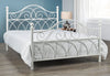 FURNITUREMATTRESSDIRECT-HEADBOARD- HAMMERED WHITE G-HB107