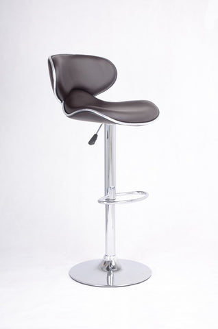 FURNITUREMATTRESSDIRECT-BAR STOOL WITH SWIVEL SEAT IN BROWN LEATHER D-BS128