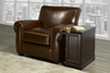 furnituremattressdirect-Chairside End Table Without Power In Espresso