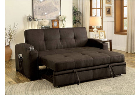 Image of Convertible Sofa Bed in Brown