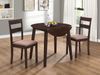 FURNITUREMATTRESSDIRECT-Kitchen Set Solid Wood with Extendable Leafs - 3 pc - Espresso  H-KS177
