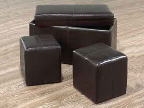 Image of FURNITUREMATTRESSDIRECT-Bench with Storage and 2 Cubes