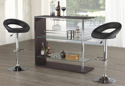 FURNITUREMATTRESSDIRECT-Bar Stand Only - Black E-PS109
