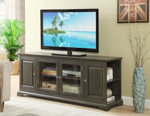FURNITUREMATTRESSDIRECT-TV STAND IN GREY FINISH F-TS102